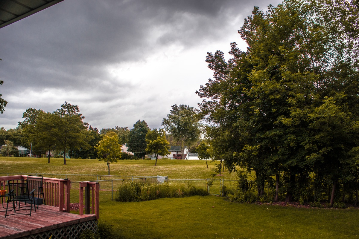 Storm Clouds on Trees, Suburbs