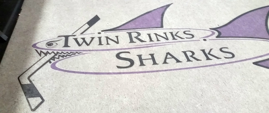Twin Rinks Sharks Hockey Logo