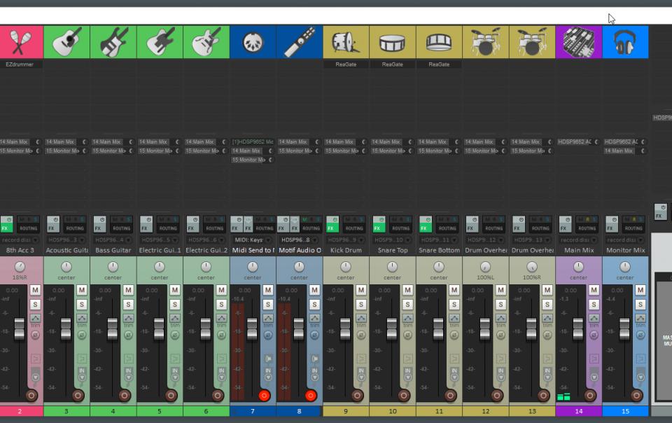 reaper mixer view