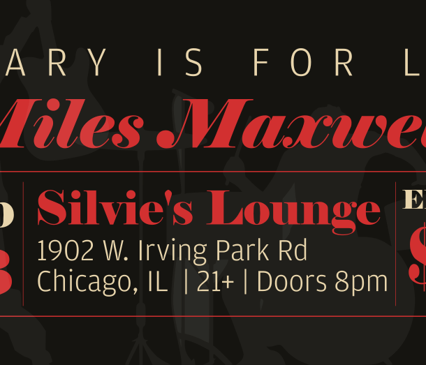 ticket graphic for silvie's show