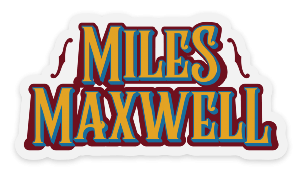 Miles Maxwell clear sticker with f holes