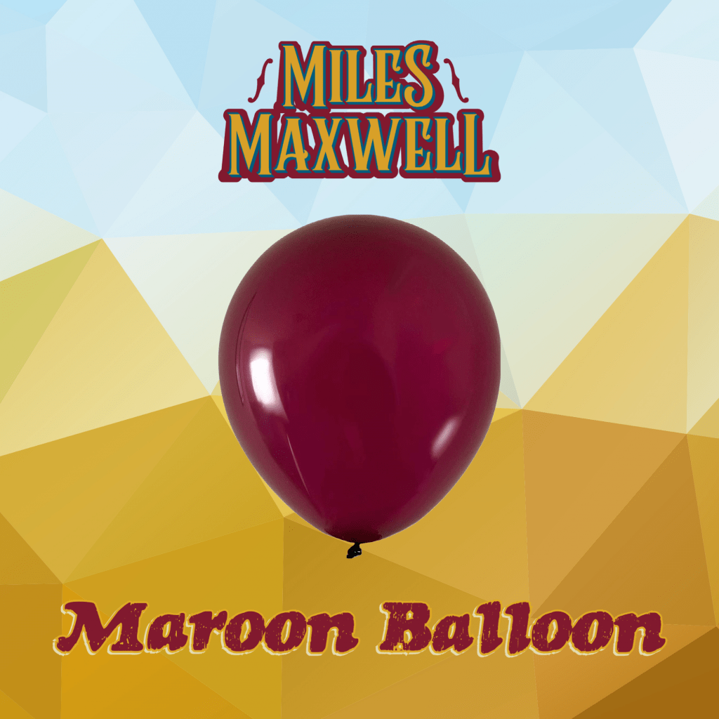 dark red balloon on polygonal desert background